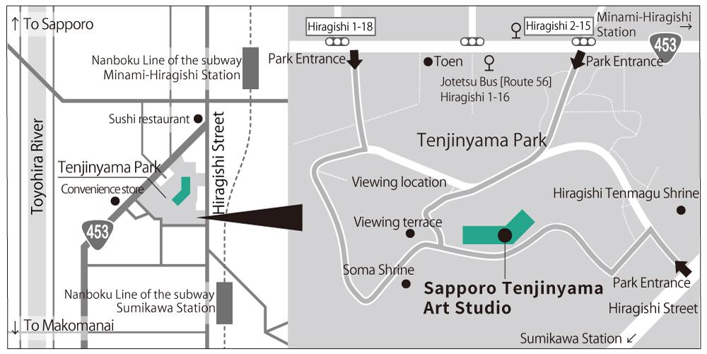 Image: Map of Tenjinyama Park