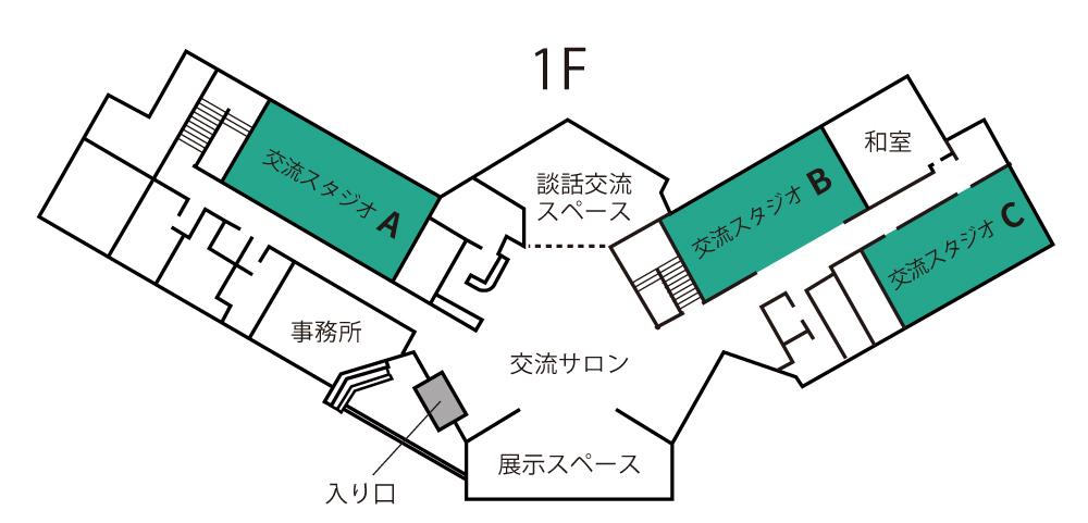 画像:施設マップ1階