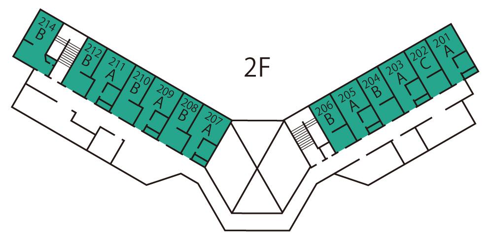 画像:施設マップ2階